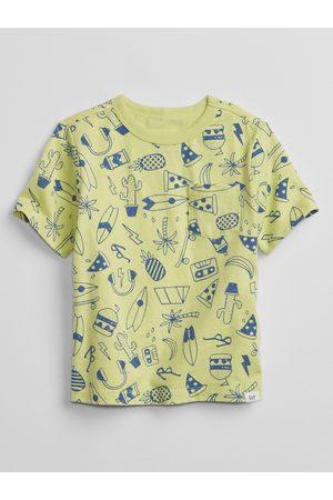 GAP Žluté klučičí dětské tričko print t-shirt