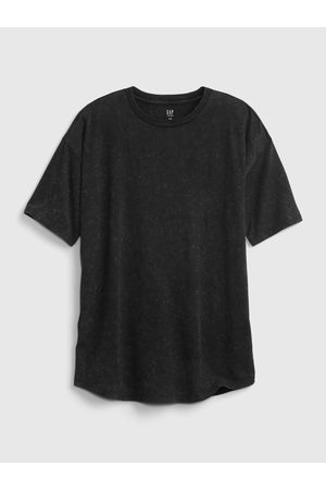GAP Černé klučičí dětské tričko curved hem t-shirt