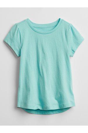 GAP Modré holčičí dětské tričko mix and match swing t-shirt