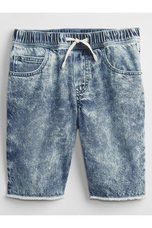 GAP Modré klučičí dětské kraťasy slim pull-on denim shorts