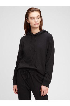 GAP Černé dámské pyžamo vý top slub jersey hoodie