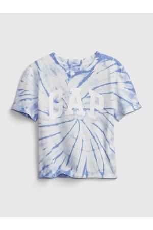 GAP Modré holčičí dětské tričko Logo short sleeve t-shirt