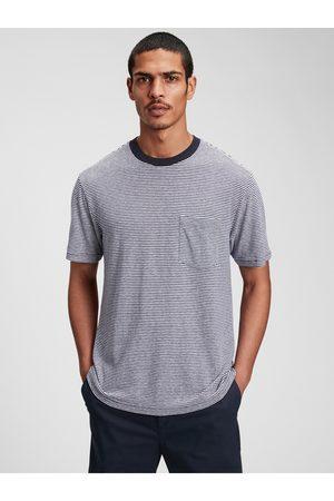 GAP Růžové pánské tričko short sleeve linen t-shirt