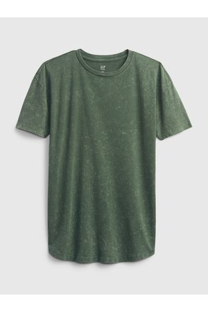 GAP Zelené klučičí dětské tričko teen curved hem t-shirt