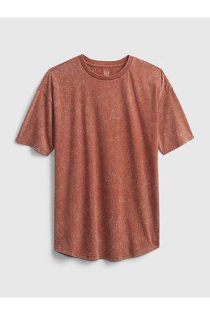 GAP Hnědé klučičí dětské tričko teen curved hem t-shirt