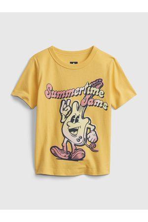GAP Žluté klučičí dětské tričko short sleeve graphic t-shirt