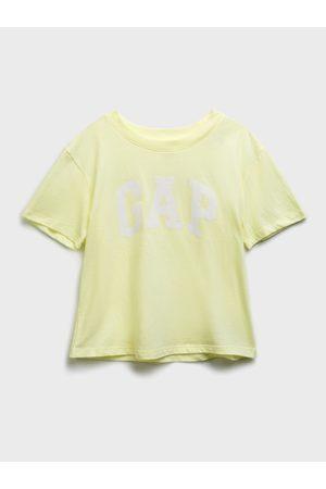 GAP Zelené holčičí dětské tričko Logo short sleeve update