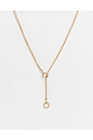 ASOS Ženy Náhrdelníky - Lariat necklace in thread through design in gold tone