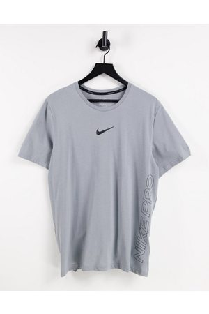 Nike Muži Trička - Nike Pro Training burnout t-shirt in grey