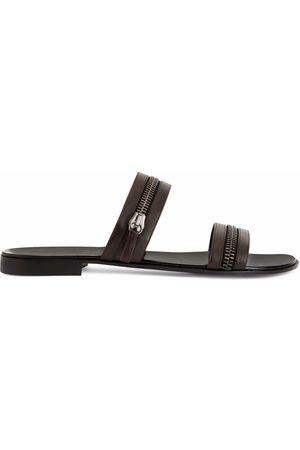 Giuseppe Zanotti Muži Sandály - Brad zip-detail sandals