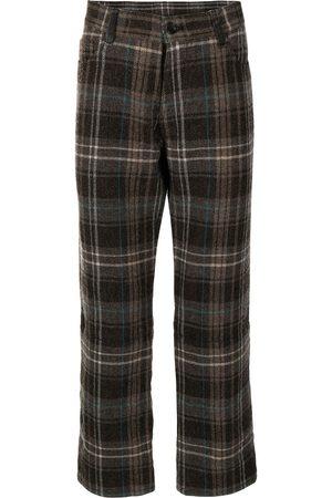 YOHJI YAMAMOTO Plaid straight-leg trousers