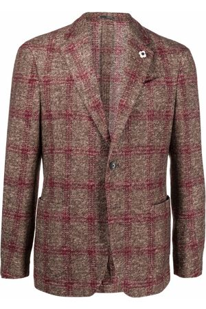 LARDINI Muži Saka - Check pattern blazer