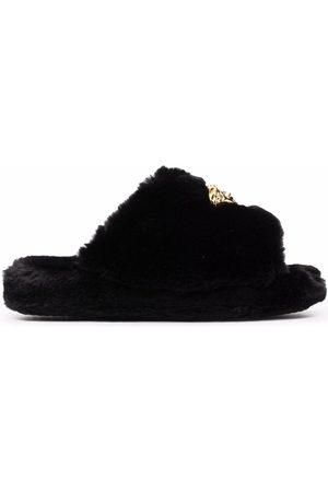 VERSACE Pantofle - Medusa-plaque open-toe slippers