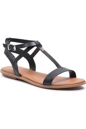 Tommy Hilfiger Feminine Leather Flat Sandal FW0FW05628