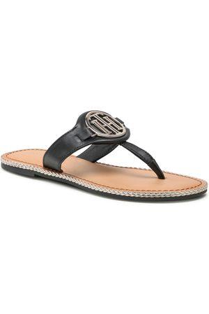 Tommy Hilfiger Ženy Bez podpadku - Essential Leather Flat Sandal