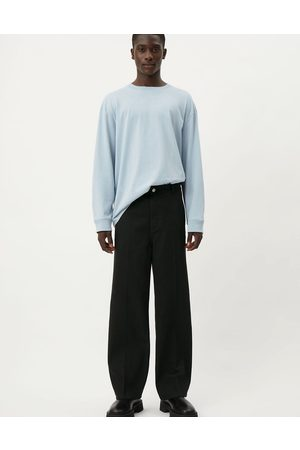 Weekday Muži Chino - Ross wide trousers in black