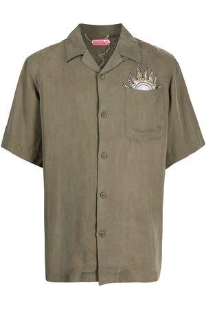 Maharishi Muži S krátkým rukávem - Embroidered short-sleeve shirt