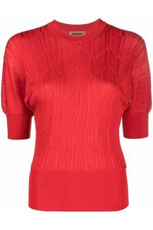 Missoni Ženy S krátkým rukávem - Pleated short-sleeved top