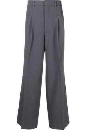 Ami Muži Široké nohavice - Front-pleat wide-leg trousers