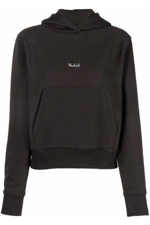 Woolrich Logo-print cotton-blend hoodie