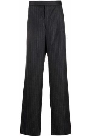 Thom Browne Muži Společenské - Pinstripe wide-leg tailored trousers