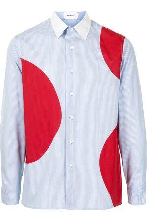 Ports V Dot-print long-sleeve shirt