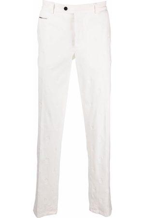 Philipp Plein Embroidered skull trousers