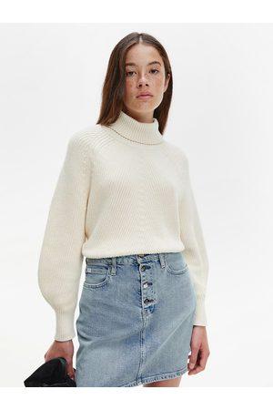 Calvin Klein Ženy Svetry - Dámský béžový svetr