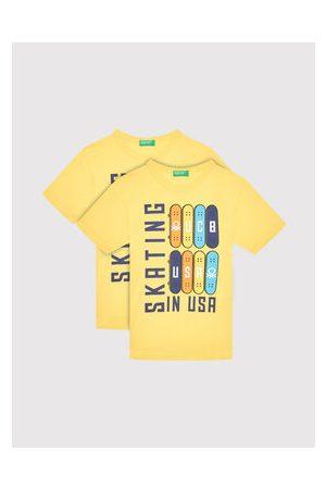 Benetton Chlapci S límečkem - T-Shirt