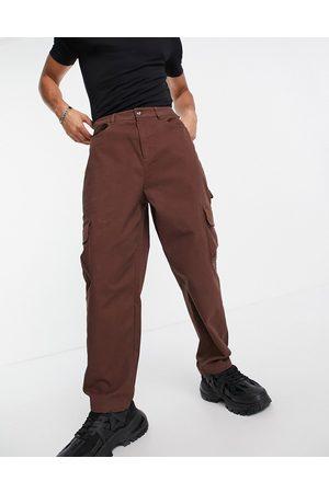 ASOS Muži Kapsáče - Cargo wide leg trousers in brown