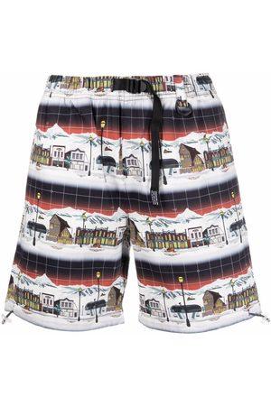 Billionaire Boys Club Muži Kraťasy - Graphic-print buckle-fastened shorts