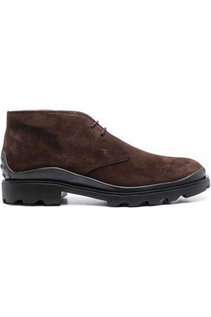 Tod's Muži Kotníkové - Suede lace-up ankle boots