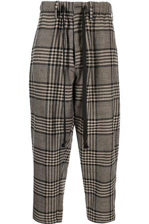 Uma Wang Plaid-check print trousers