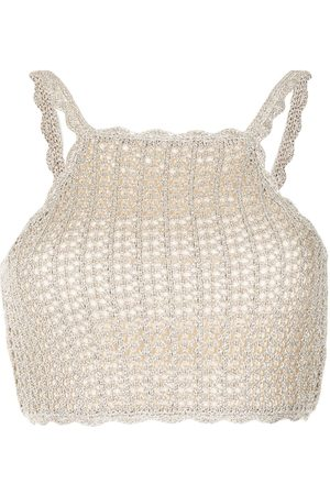 Alice McCall Flicker knitted crop top