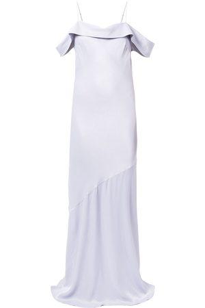Rebecca Vallance Olivia off-shoulder slip gown