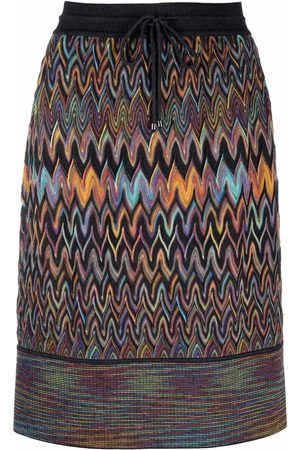Missoni Zigzag-pattern knitted skirt