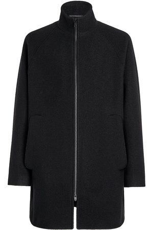 Z Zegna Muži Ke krku - High-neck wool coat