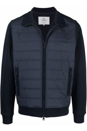 Woolrich Muži Bombery - Zipped quilted bomber jacket
