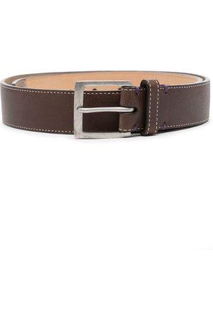 PAUL SMITH Muži Pásky - Contrast-stitching leather belt