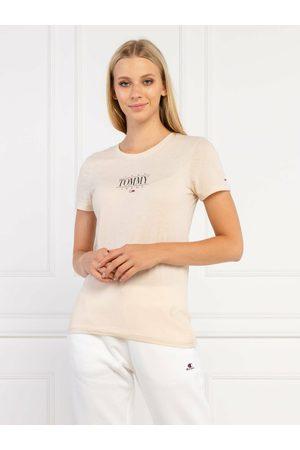 Tommy Hilfiger Ženy Trička - Dámské béžové triko