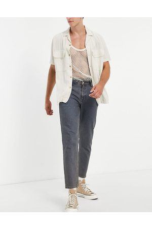 ASOS Classic rigid jeans in vintage dark tinted wash-Blue