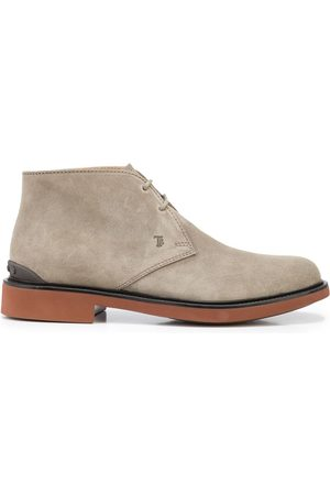 Tod's Almond-toe lace-up ankle boots