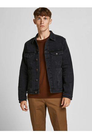 JACK & JONES Černá džínová bunda Alvin