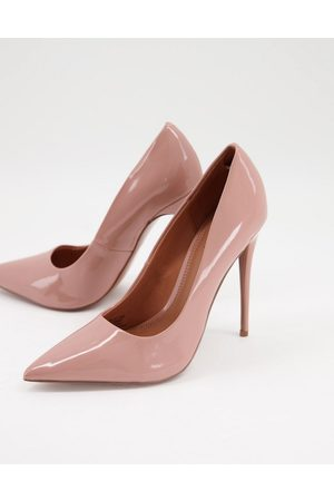 ASOS Passion stiletto court shoes in beige-Neutral