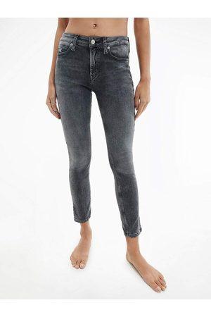 Calvin Klein Ženy Kalhoty - Dámské šedé džíny Ankle