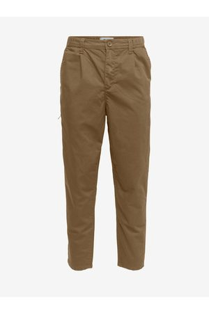 Only & Sons Hnědé chino kalhoty Dew