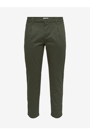 Only & Sons Zelené chino kalhoty Cam