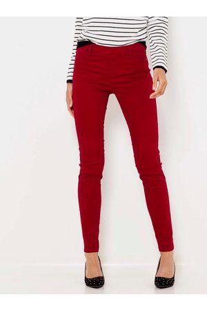 CAMAIEU Ženy Úzké nohavice - Červené skinny fit kalhoty