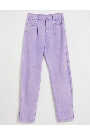 Reclaimed Vintage Inspired '83 unisex relaxed fit jean in lilac-Purple