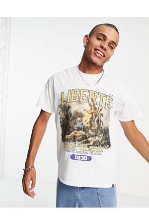 Vintage Supply Liberte varsity t-shirt in white